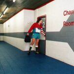 Ergo Mattas in the locker room